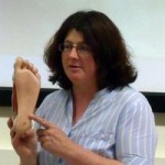 Kate Mulliss teaching Reflexology