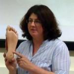 Kate Mulliss teaching Reflexology