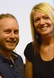 David Pexton with Carrie Smith (Tutor - Massage and Sports Massage)